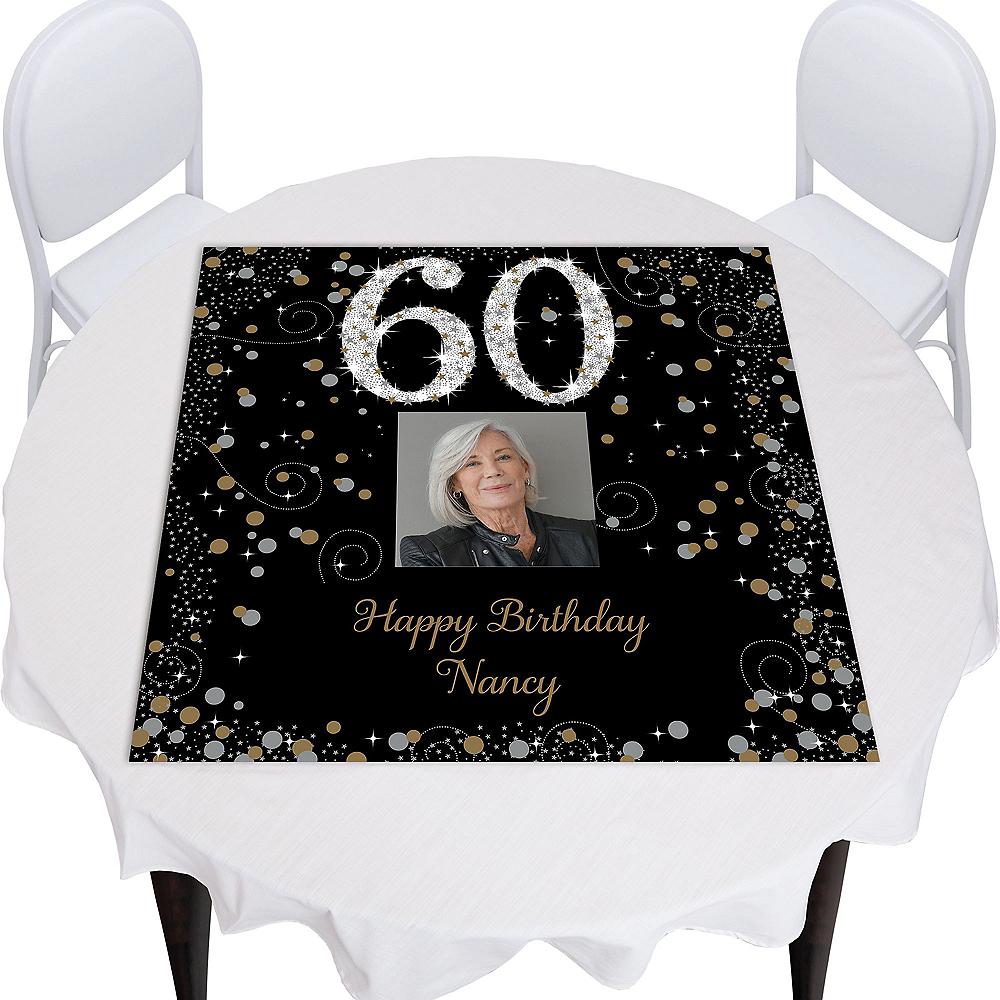 Custom Sparkling Celebration 60 Square Table Topper Image #1