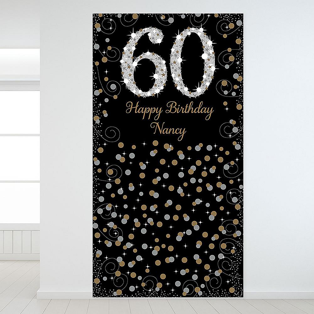 Custom Sparkling Celebration 60 Backdrop Image #1