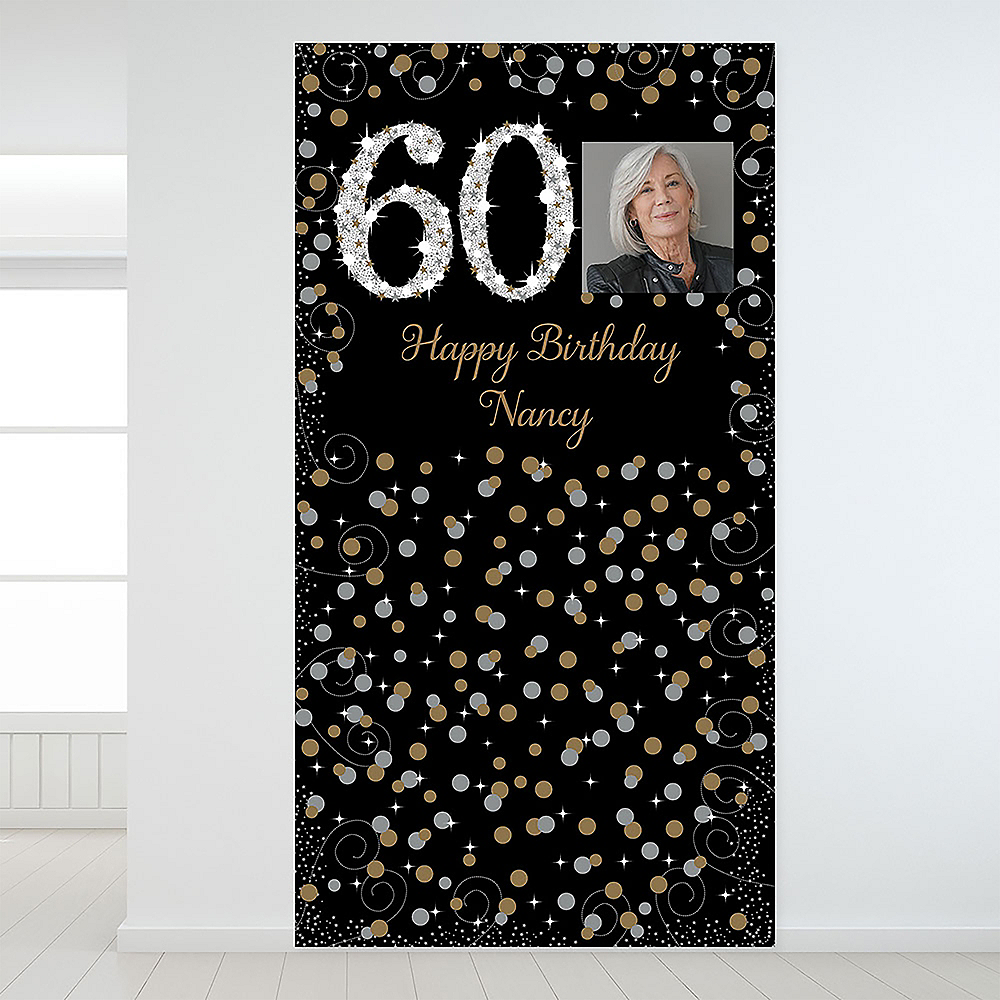 Custom Sparkling Celebration 60 Photo Backdrop Image #1