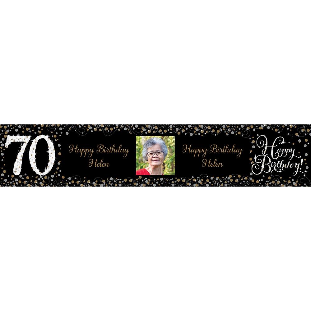 Custom Sparkling Celebration 70 Photo Table Runner Image #1