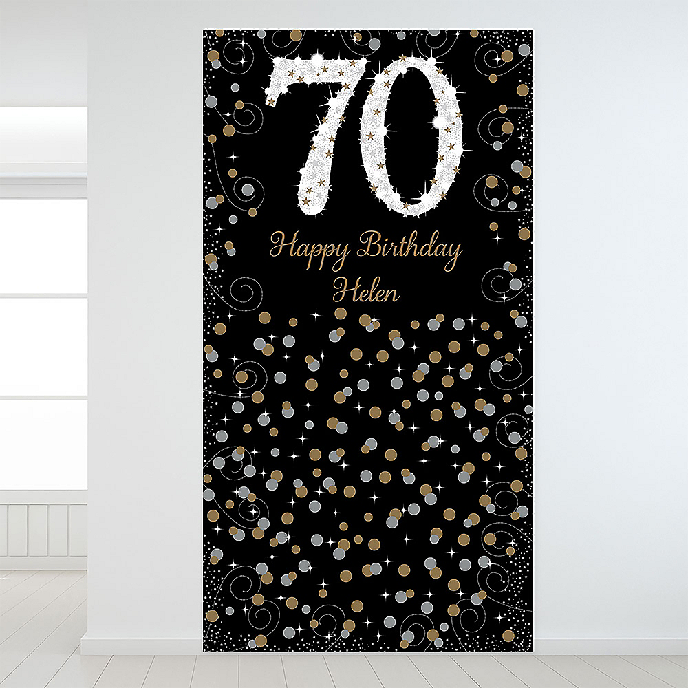 Custom Sparkling Celebration 70 Backdrop Image #1