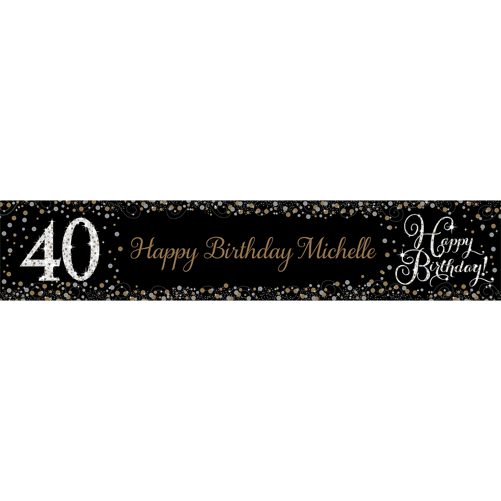 Nav Item for Custom Sparkling Celebration 40 Table Runner Image #1