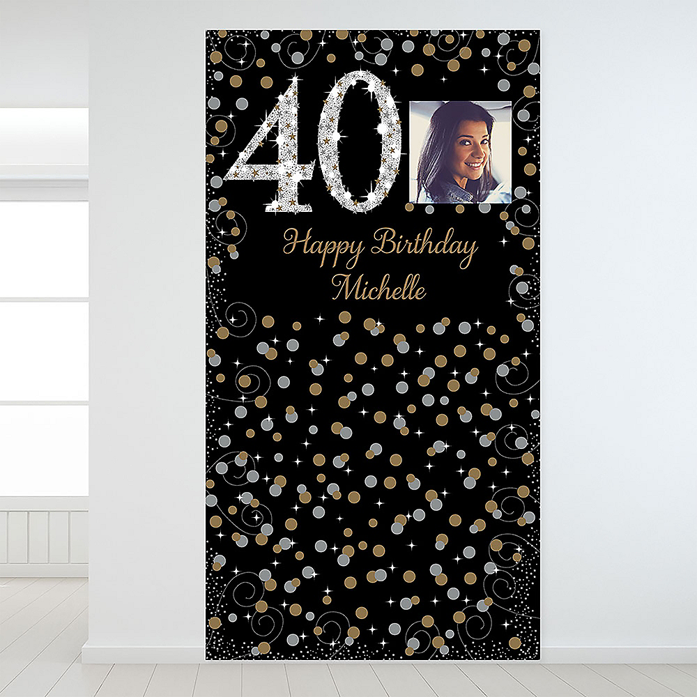 Custom Sparkling Celebration 40 Photo Backdrop Image #1