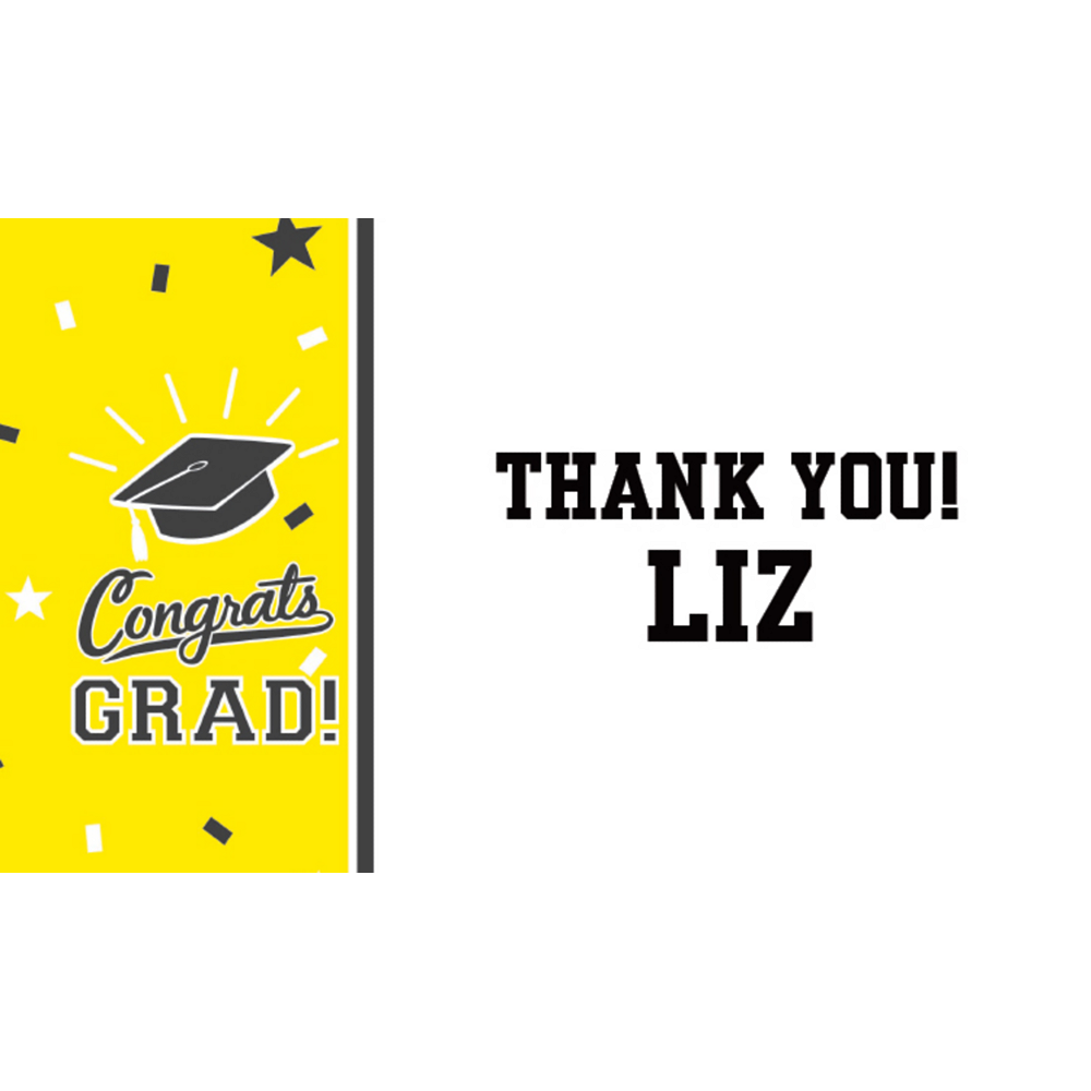 Custom School Colors Pride Yellow Thank You Note Image #1