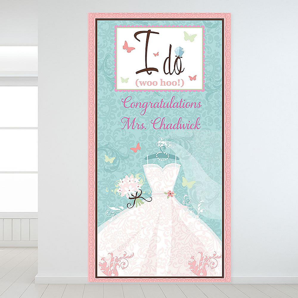 Custom Something Blue Bridal Shower Backdrop Image #1