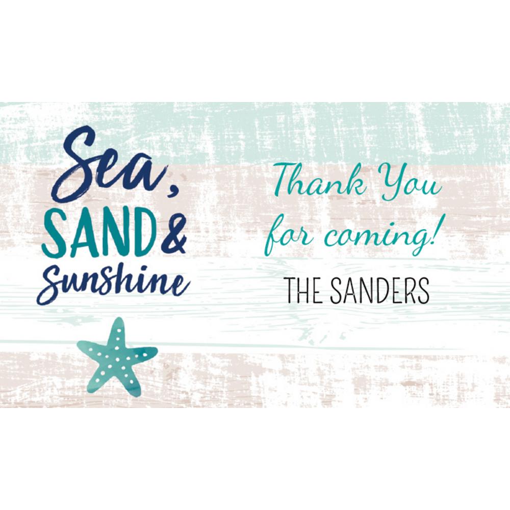 Custom Sea, Sand & Sun Thank You Notes Image #1