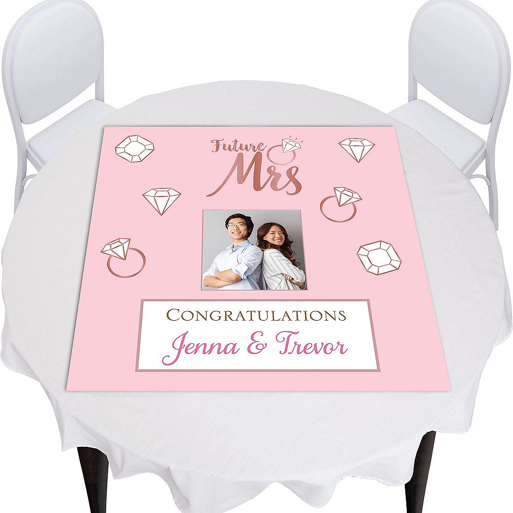 Custom Blush Wedding Square Table Topper Image #1
