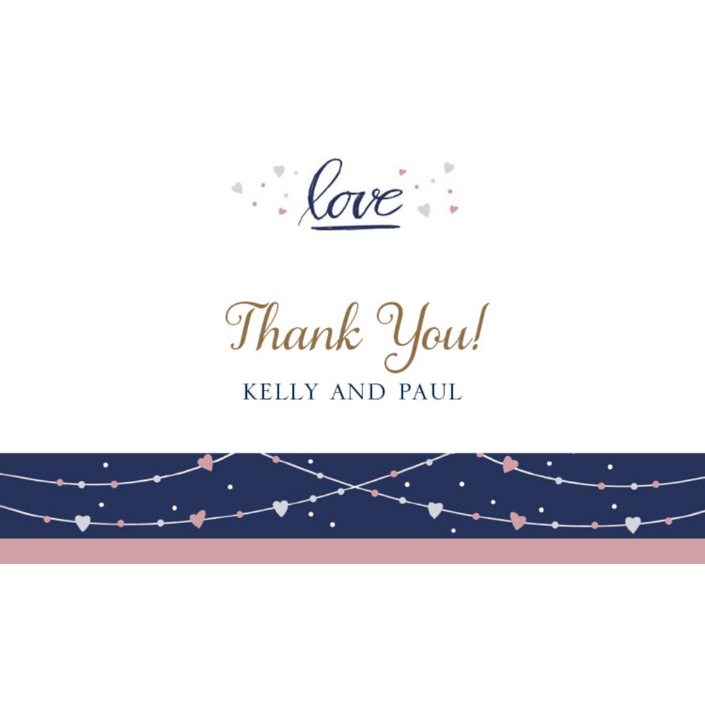 Custom Navy Love Bridal Thank You Notes Image #1