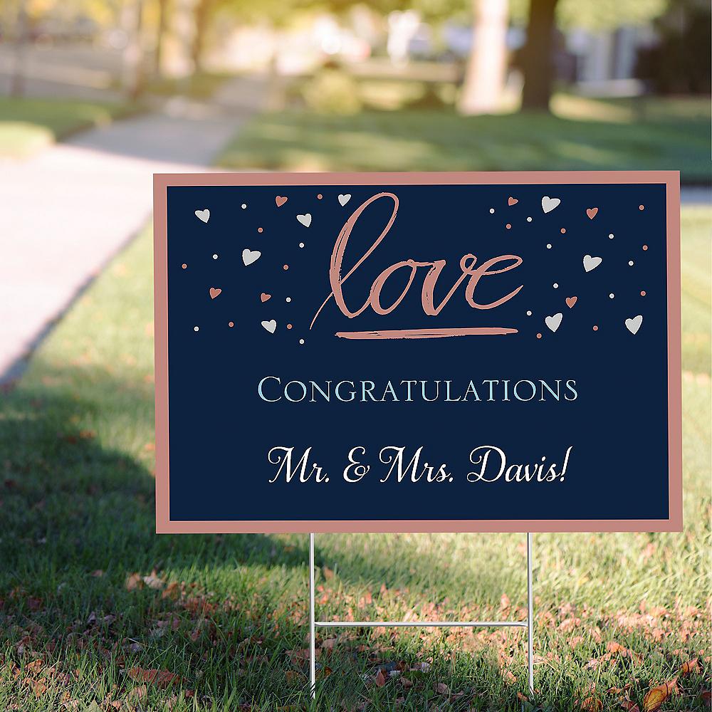 Custom Navy Love Bridal Yard Sign Image #1