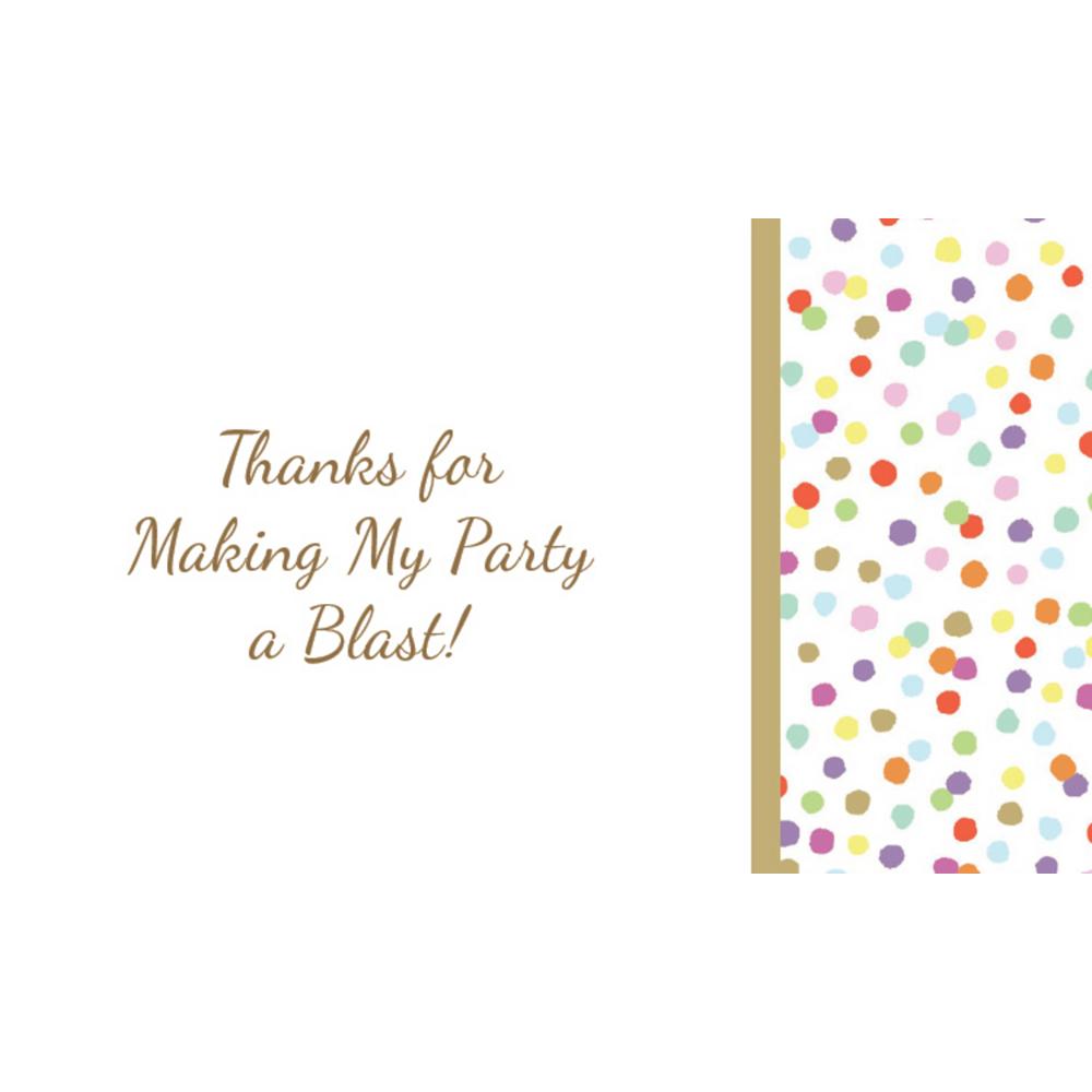 Custom Rainbow Confetti Thank You Notes Image #1
