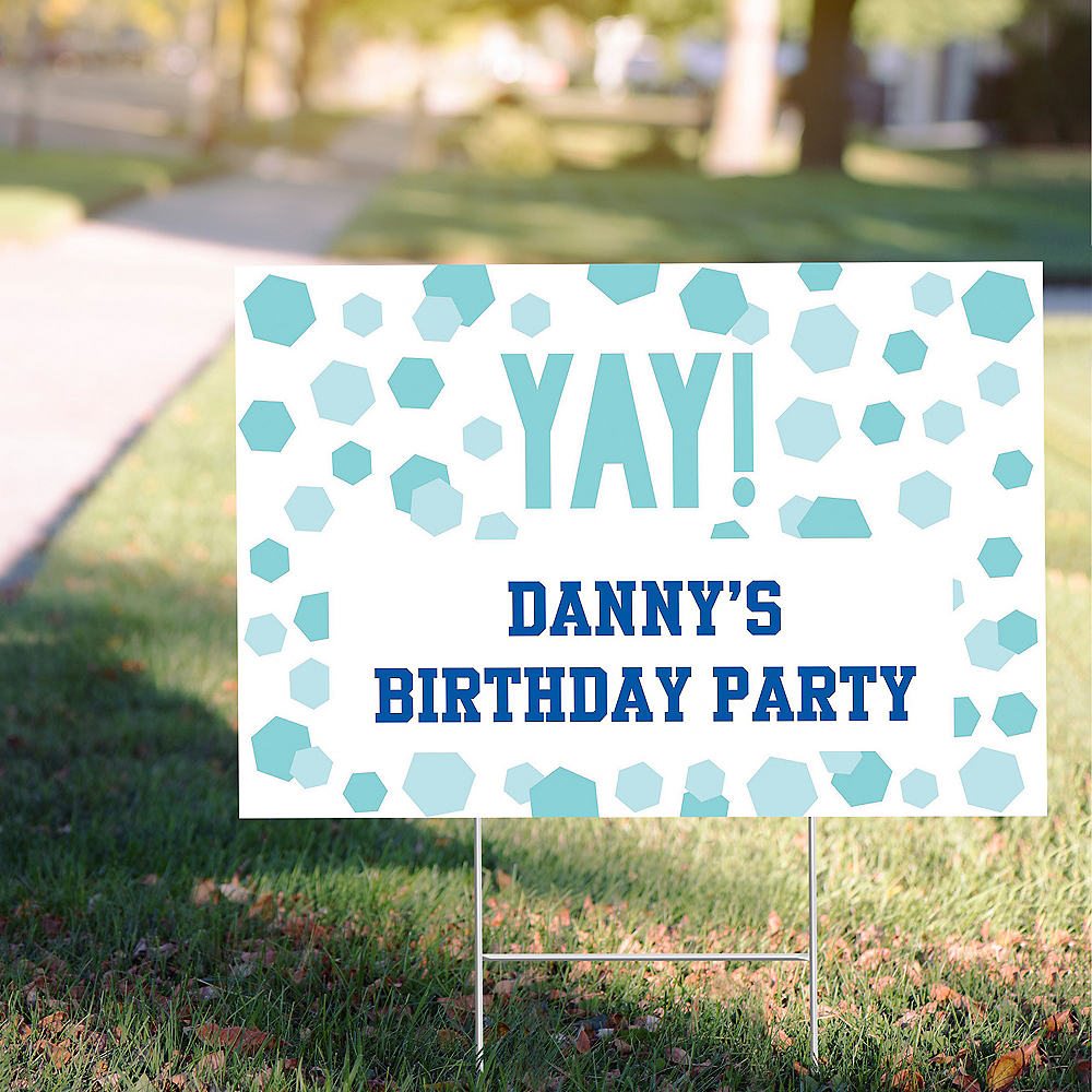 Custom Shimmering Party Yard Sign Image #1