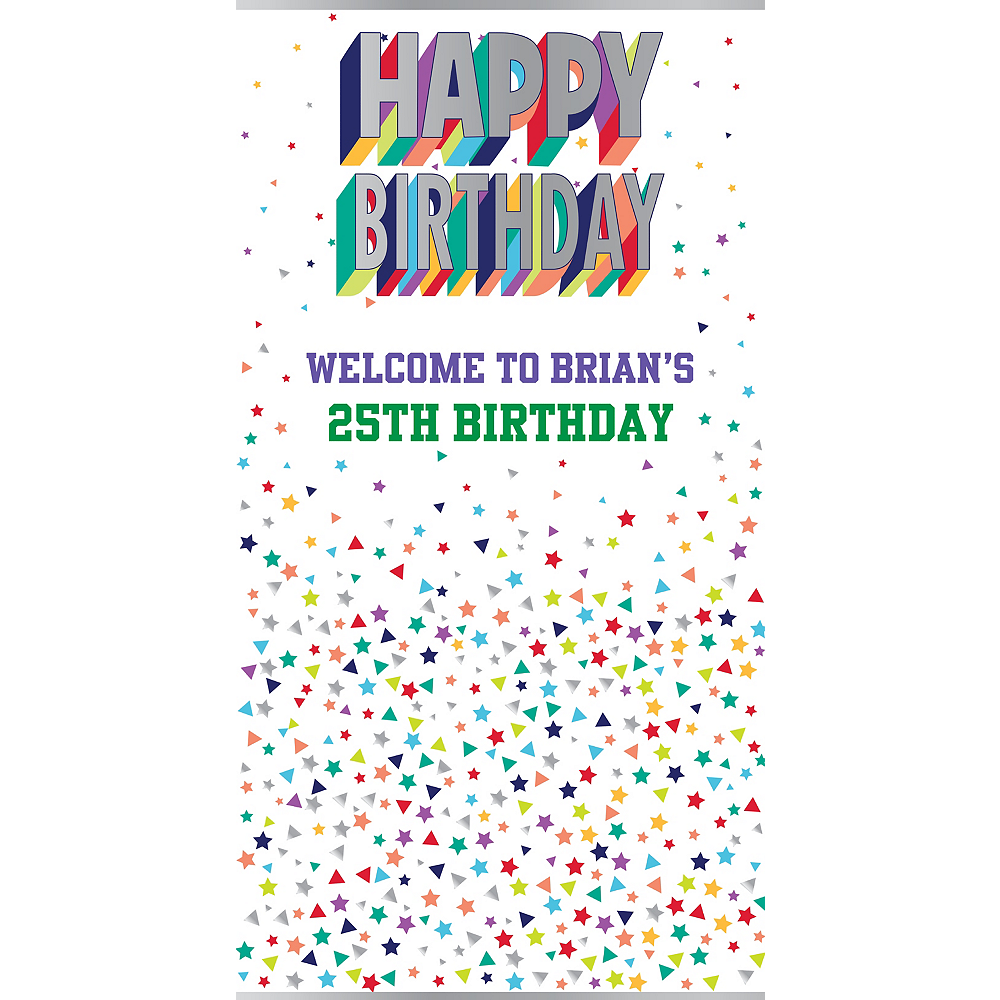 Custom Here's to Your Birthday Backdrop Image #1