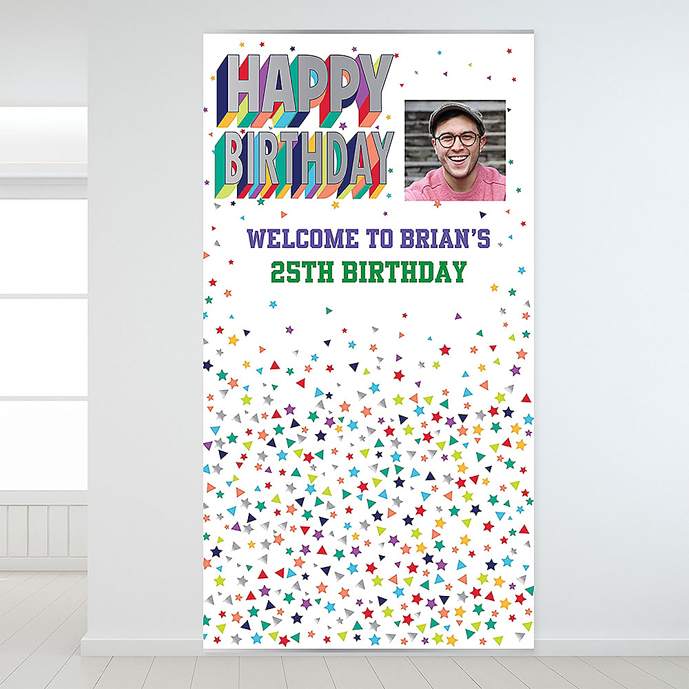 Custom Here's to Your Birthday Photo Backdrop Image #1