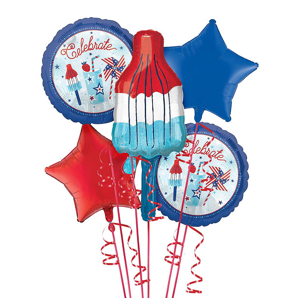 Red, White & Blue Ice Pop Balloon Kit Image #1