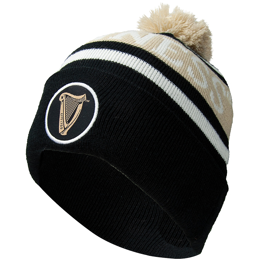Adult Black Guinness Beanie Image #1