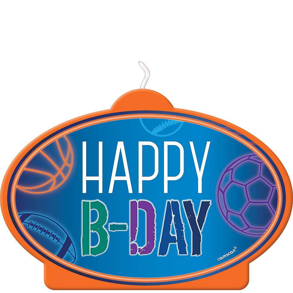 Birthday Baller Candle Image #1