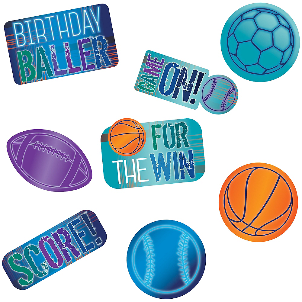 Nav Item for Birthday Baller Cardstock Cutouts 12ct Image #1