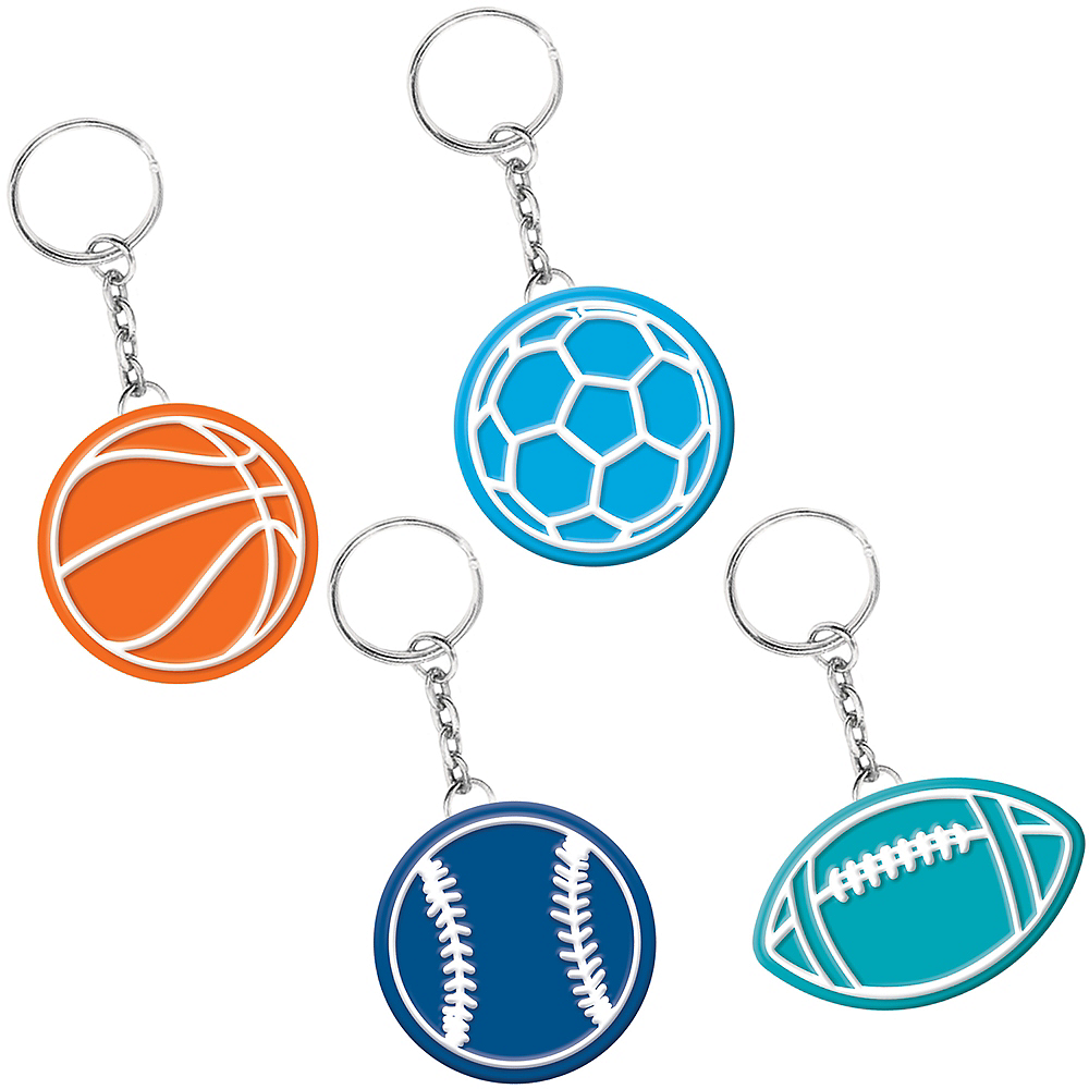Nav Item for Birthday Baller Keychains 8ct Image #1