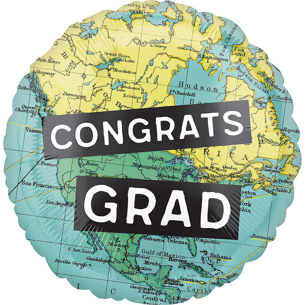 The World Awaits Congrats Graduation Balloon, 18in Image #2