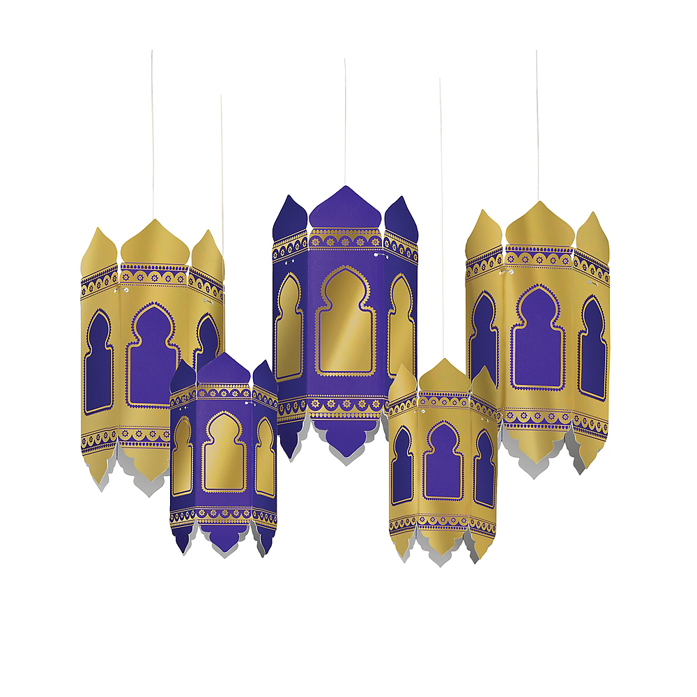 Nav Item for Eid al-Fitr Paper Lanterns 5ct Image #1