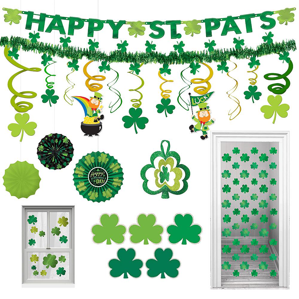 St. Patrick's Day Room Decorating Mega Value Pack Image #1