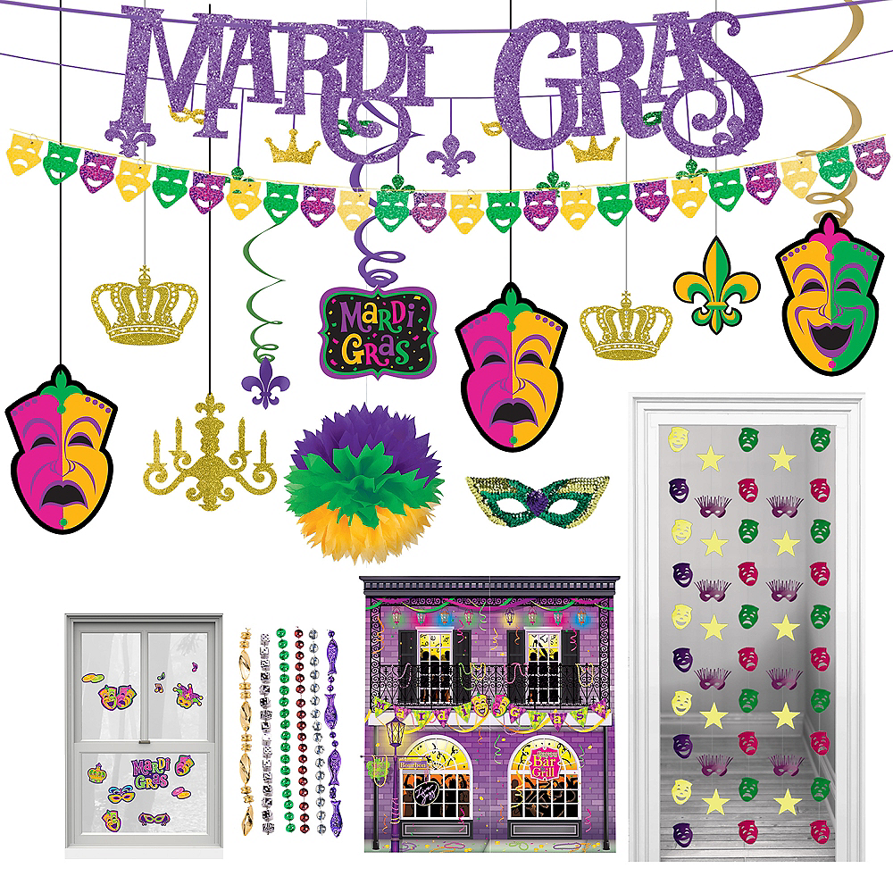 Mardi Gras Room Decorating Mega Value Pack Image #1