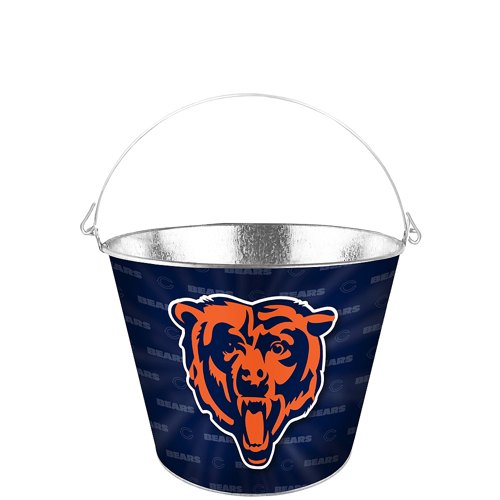 Chicago Bears Logo Galvanized Bucket Image #1