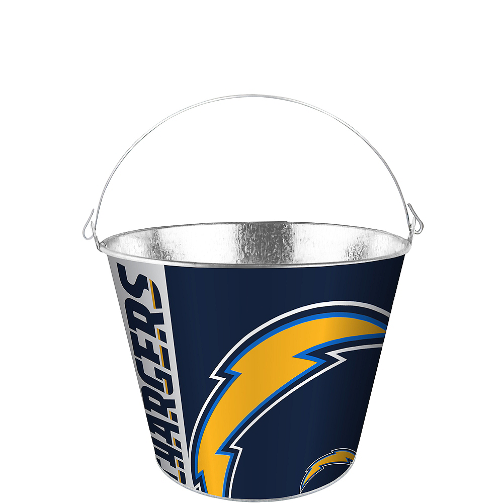 Los Angeles Chargers Logo Galvanized Bucket Image #1