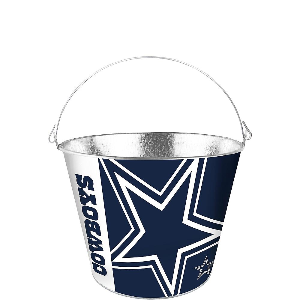 Dallas Cowboys Logo Galvanized Bucket Image #1