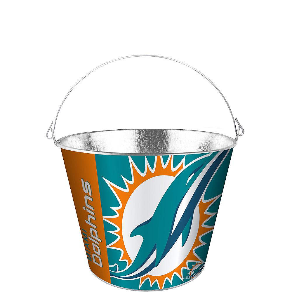 Miami Dolphins Logo Galvanized Bucket Image #1
