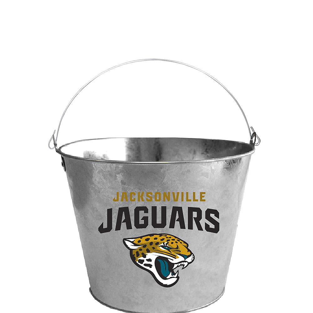 Jacksonville Jaguars Logo Galvanized Bucket Image #1