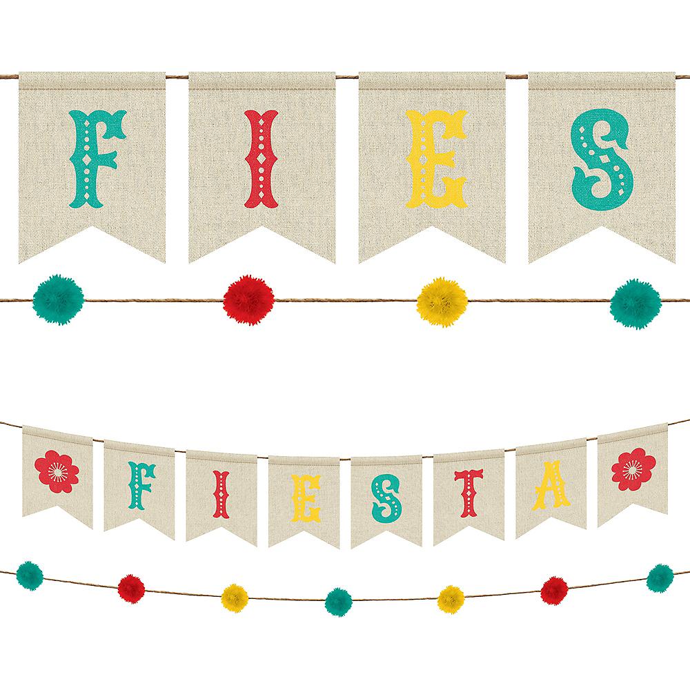 Fiesta Canvas Pennant & Pom-Pom Banner Kit 2ct Image #1