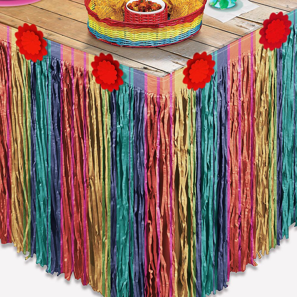Fiesta Striped Table Skirt Image #1