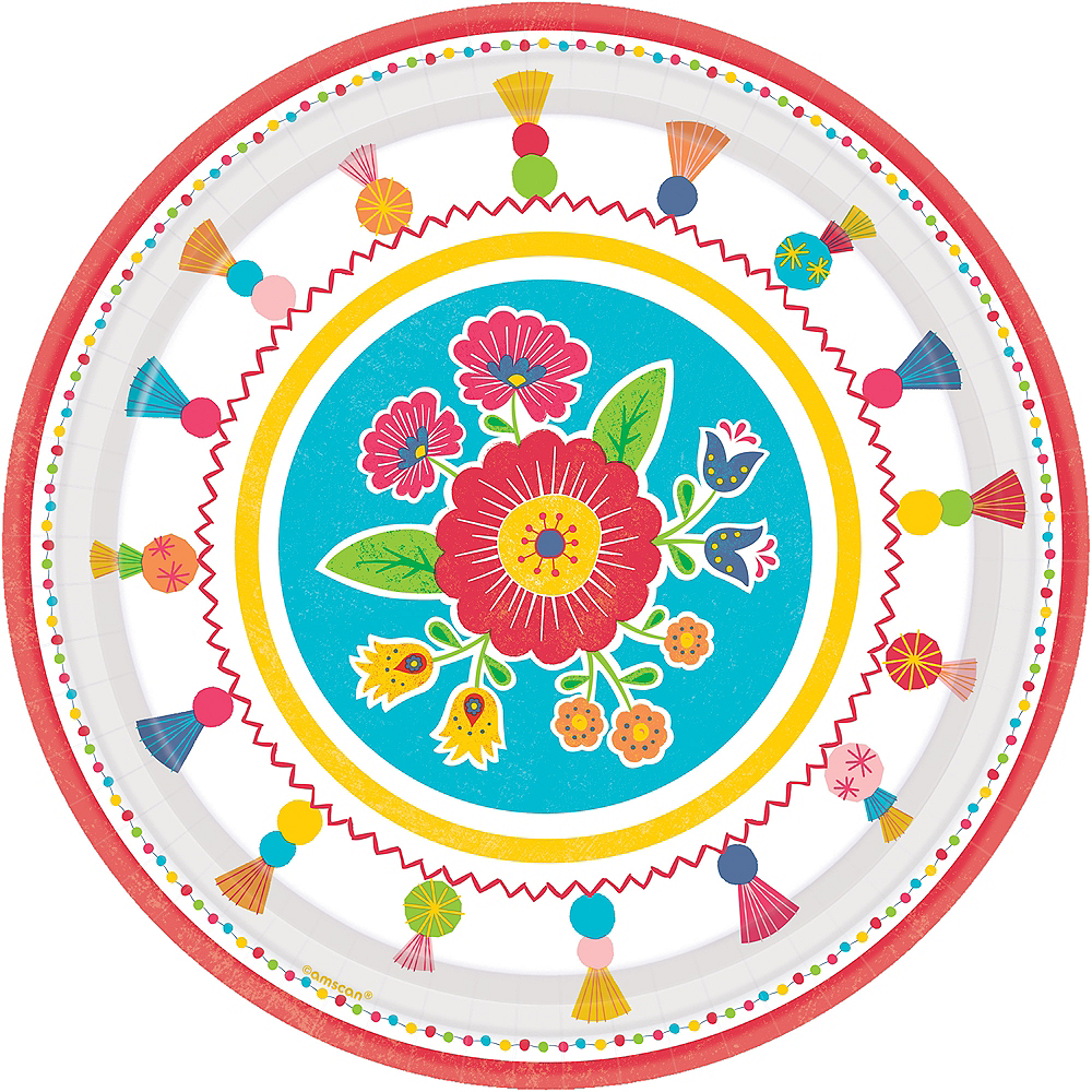 Fiesta Time Dinner Plates 8ct Image #1