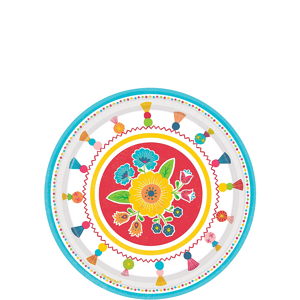 Nav Item for Fiesta Time Dessert Plates 8ct Image #1