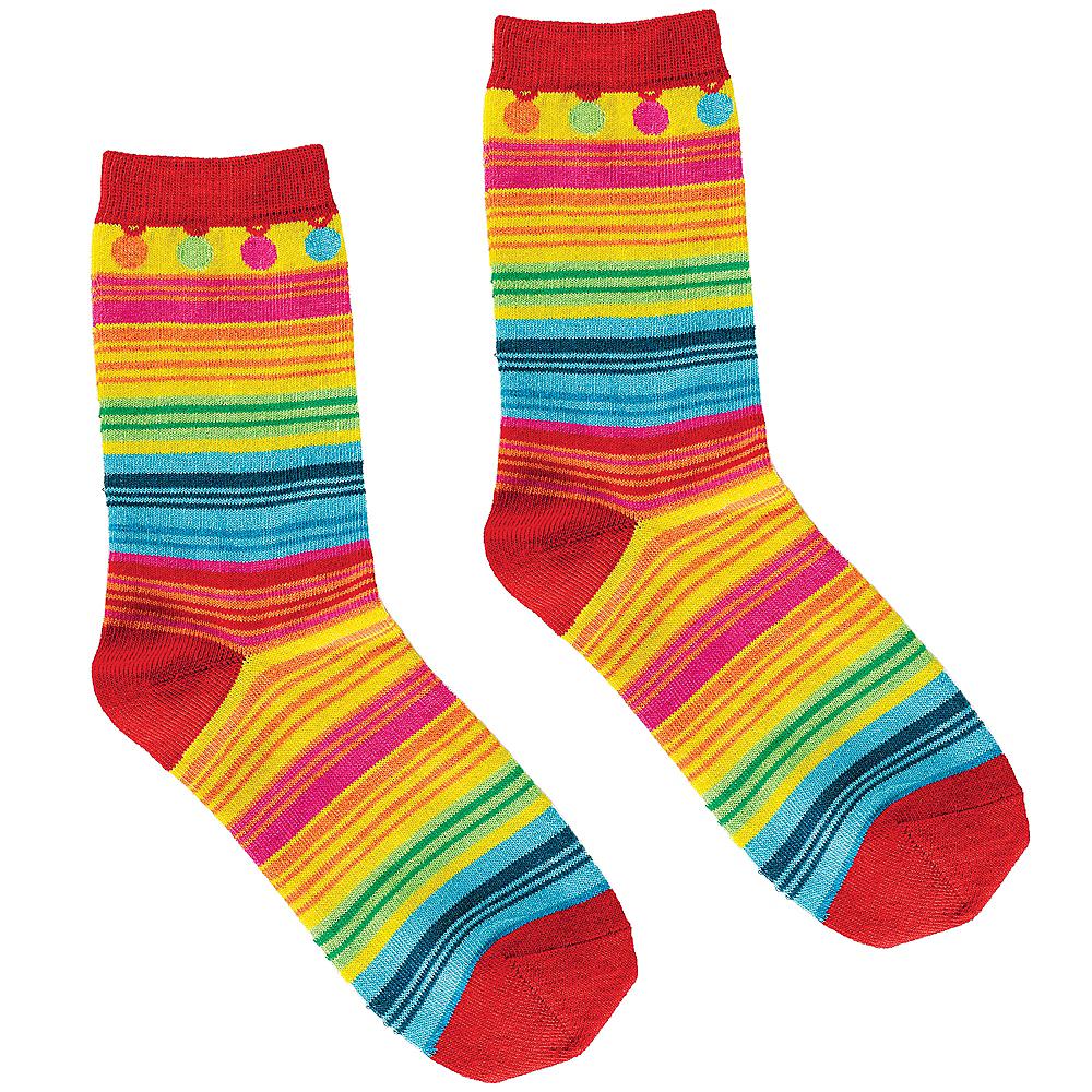 Adult Serape Crew Socks Image #1