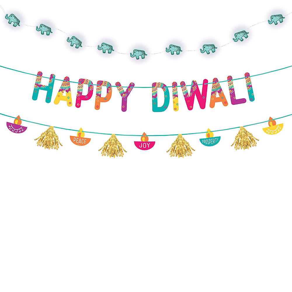 Diwali Light-Up Banner Kit 2pc Image #1