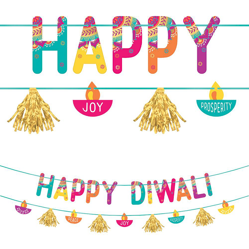 Diwali Light-Up Banner Kit 2pc Image #2