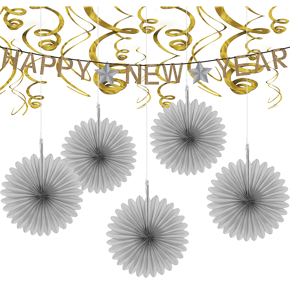 Gold & Silver New Year's Eve Decorating Kit Image #1