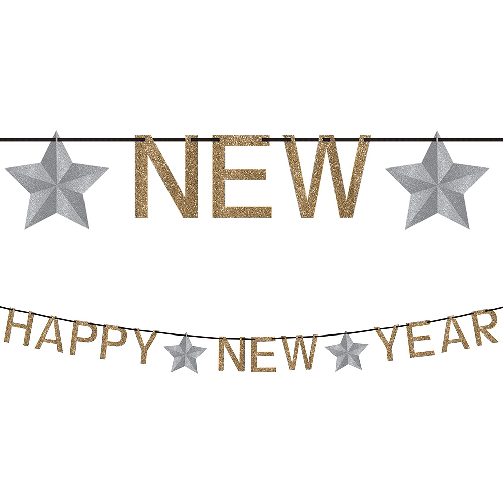 Gold & Silver New Year's Eve Decorating Kit Image #2