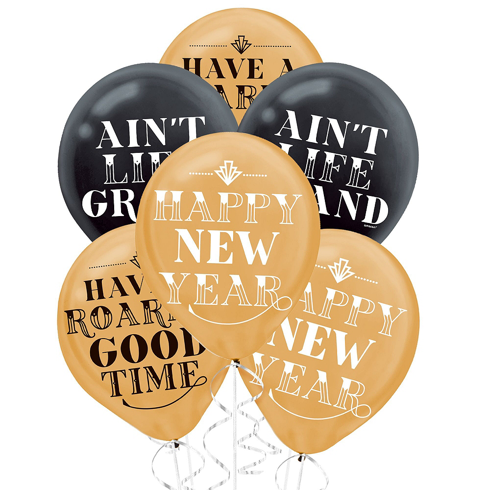 Black, Gold & Silver New Year's Eve Decorating Kit Image #3