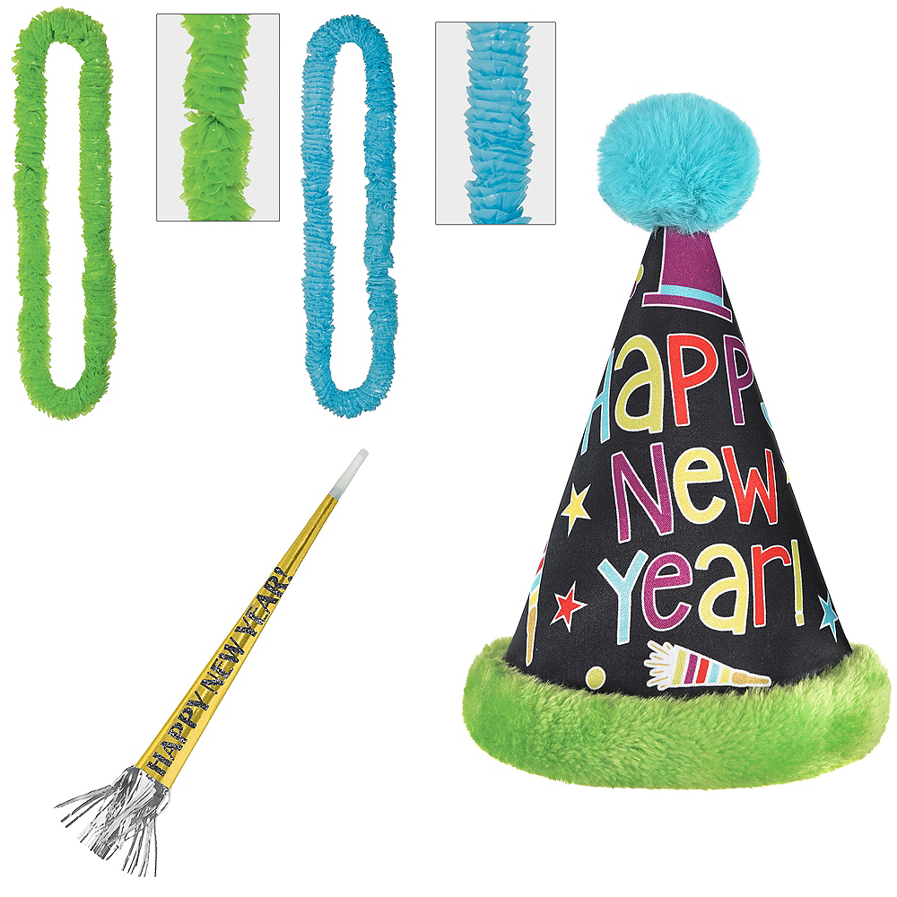 Child Bright New Year's Eve Party Kit for 4 Guests Image #1