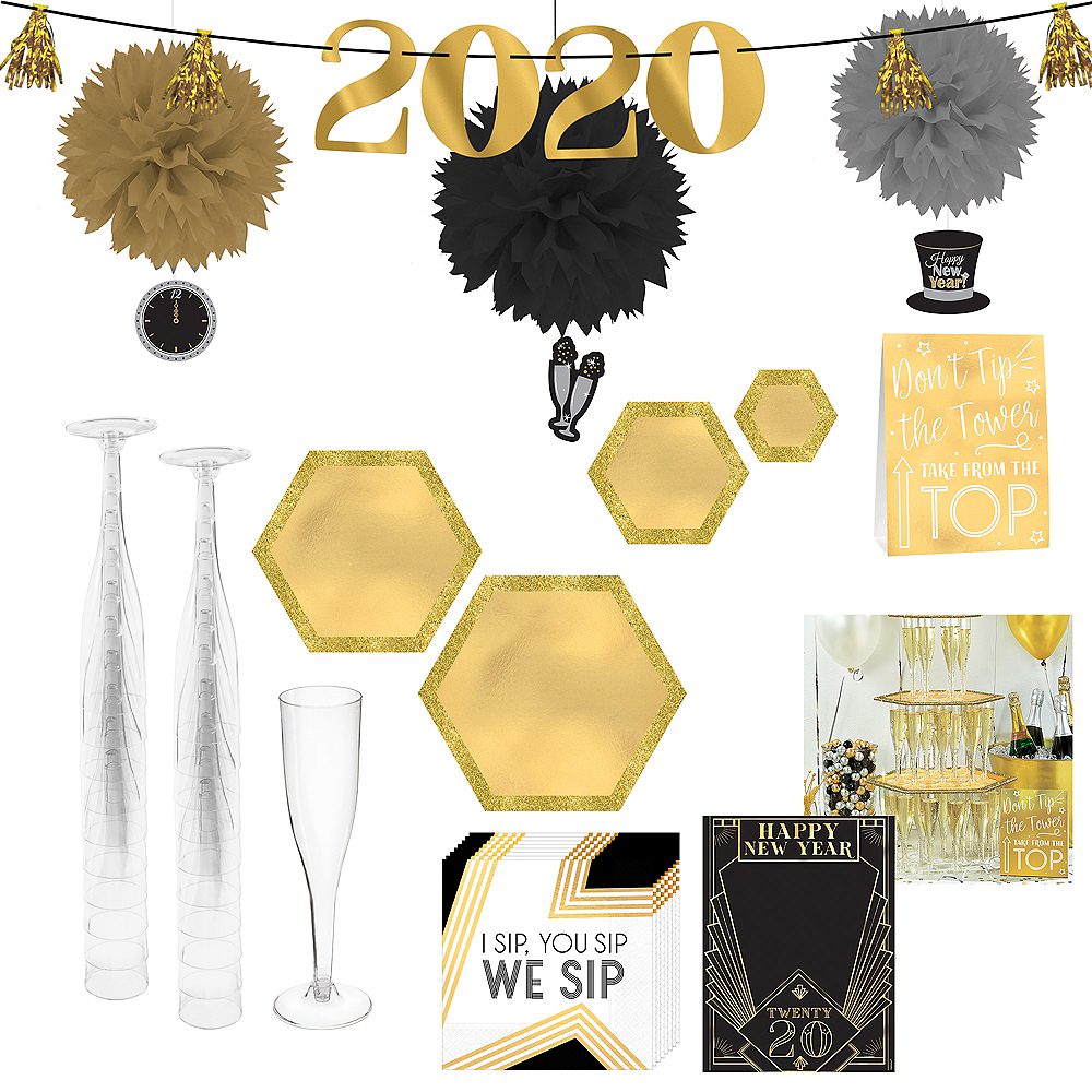 New Year's Eve Bubbly Bar Kit for 20 Guests Image #1