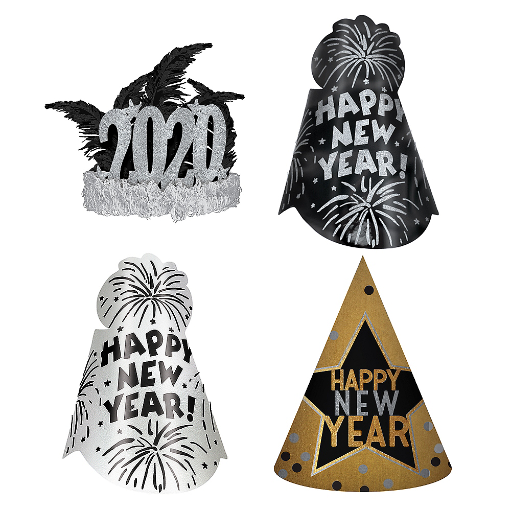 Gold & Silver New Year's Eve Party Kit for 16 Guests Image #1