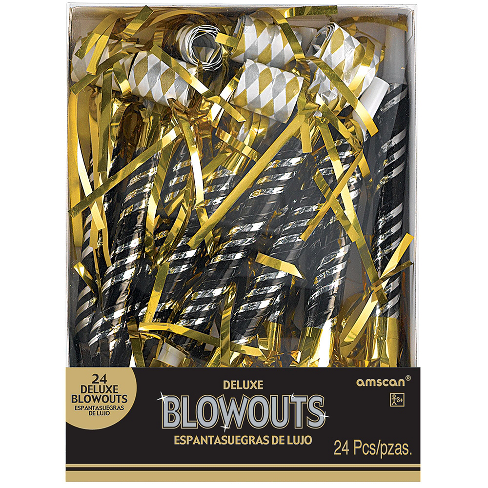 Gold & Silver New Year's Eve Party Kit for 16 Guests Image #5