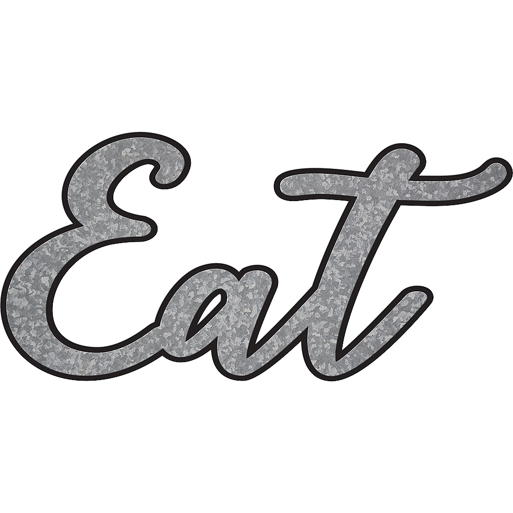 Eat Block Letter Sign Image #1