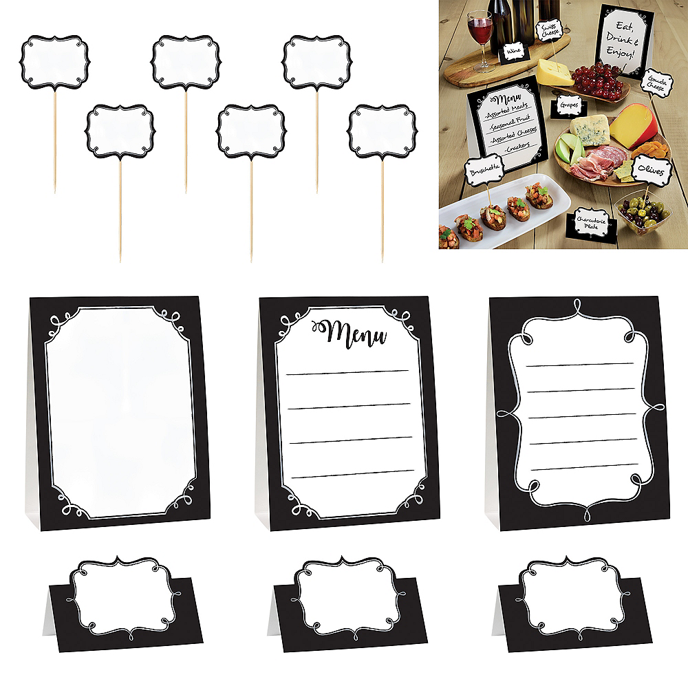 Foodie Buffet Table Decorating Kit 12pc Image #1