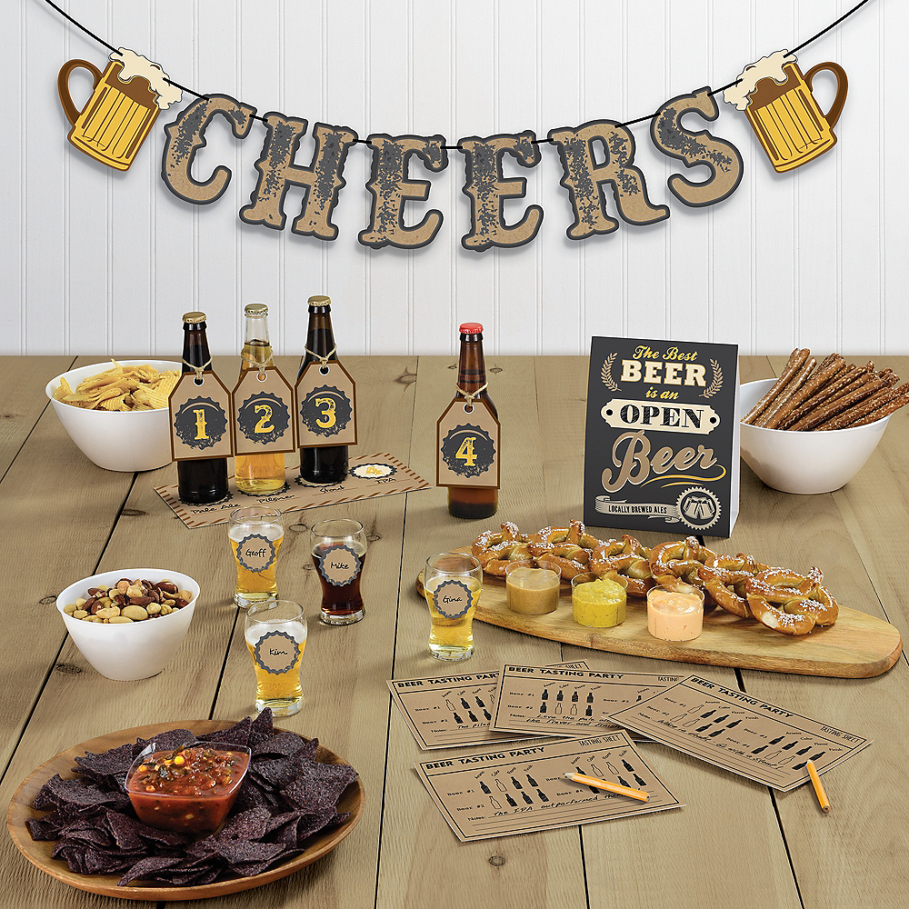 Beer Tasting Buffet Table Decorating Kit 15pc Image #1