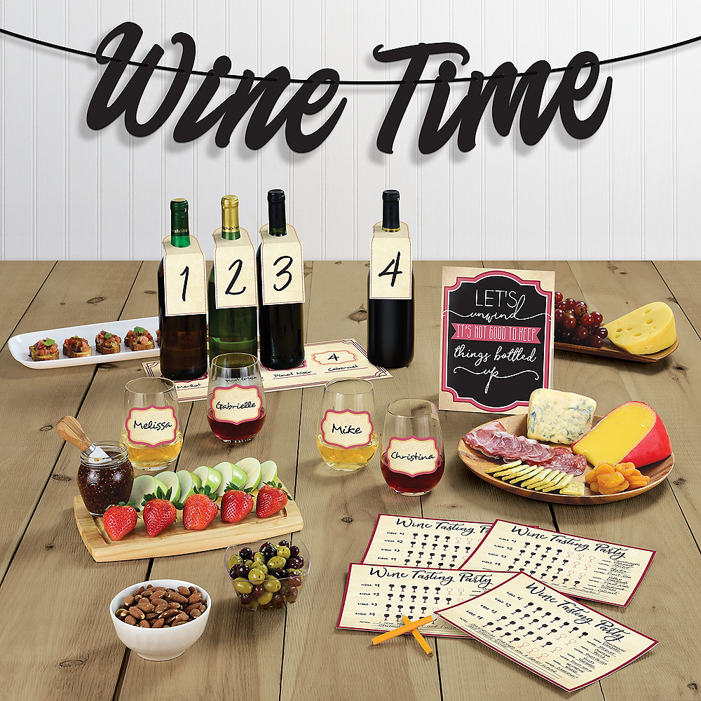 Wine Tasting Buffet Table Decorating Kit 15pc Image #1