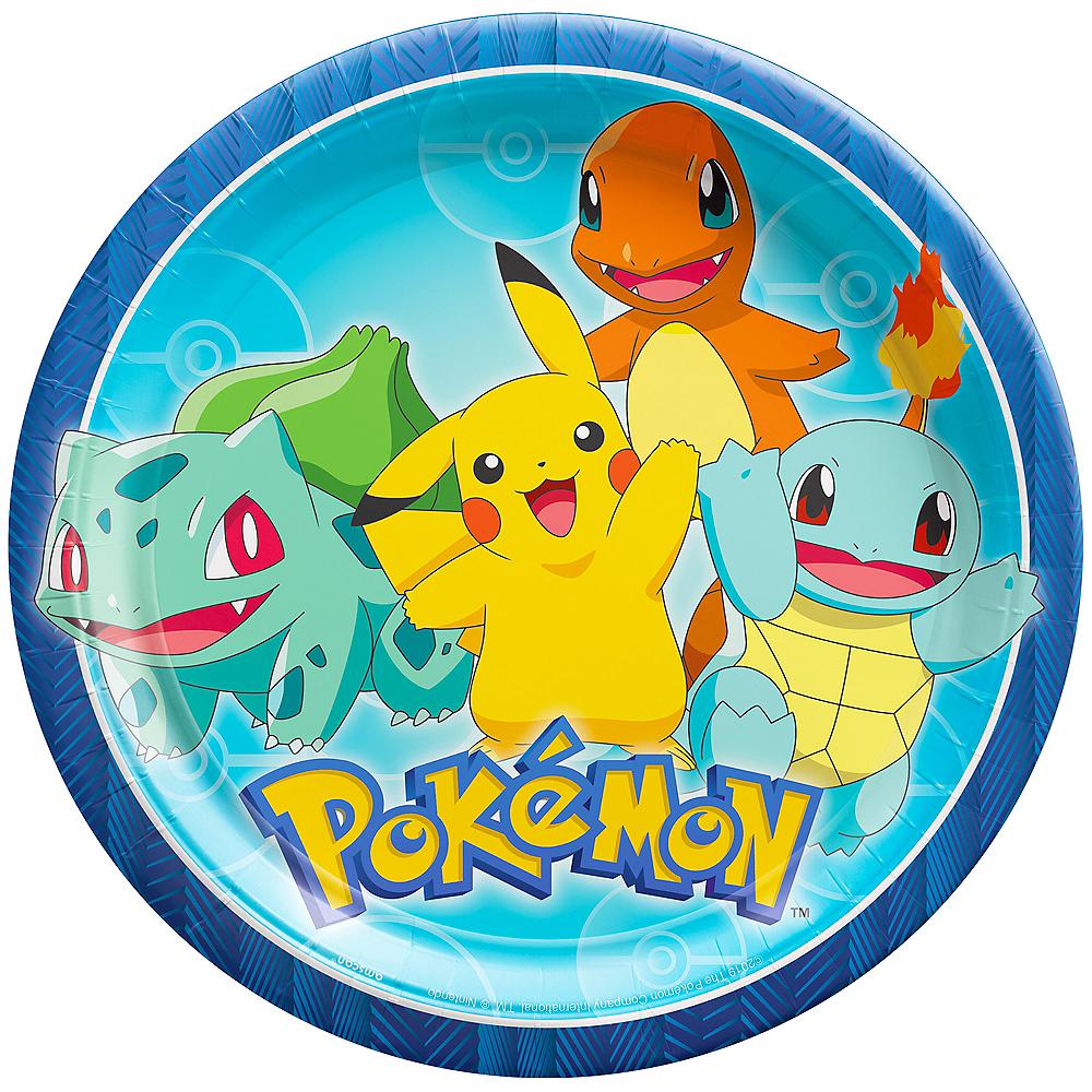 Classic Pokémon Lunch Plates 8ct Image #1